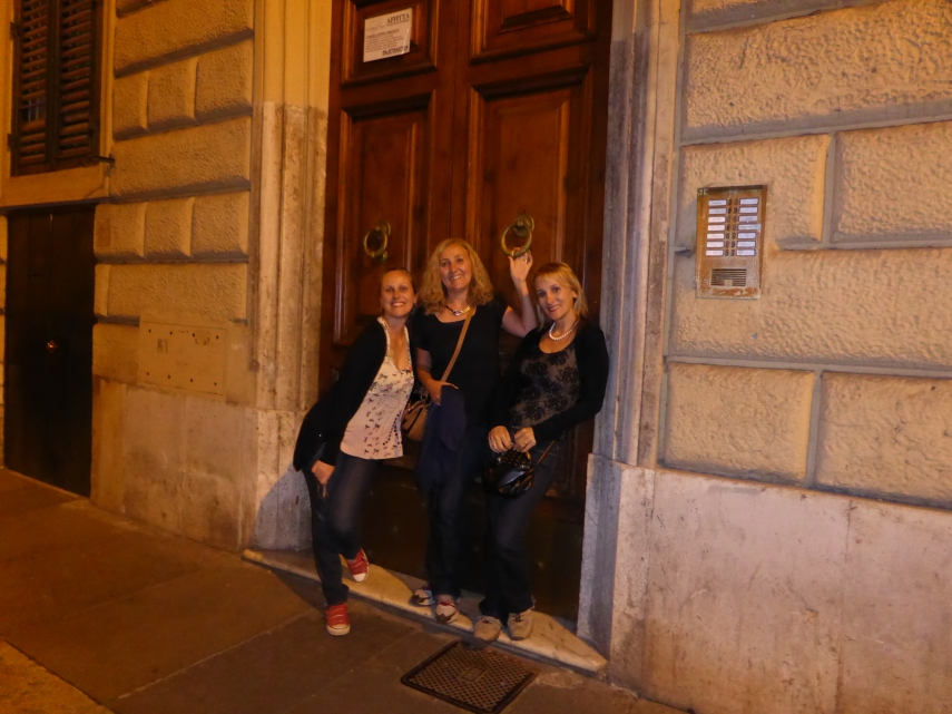 Our home in Rome