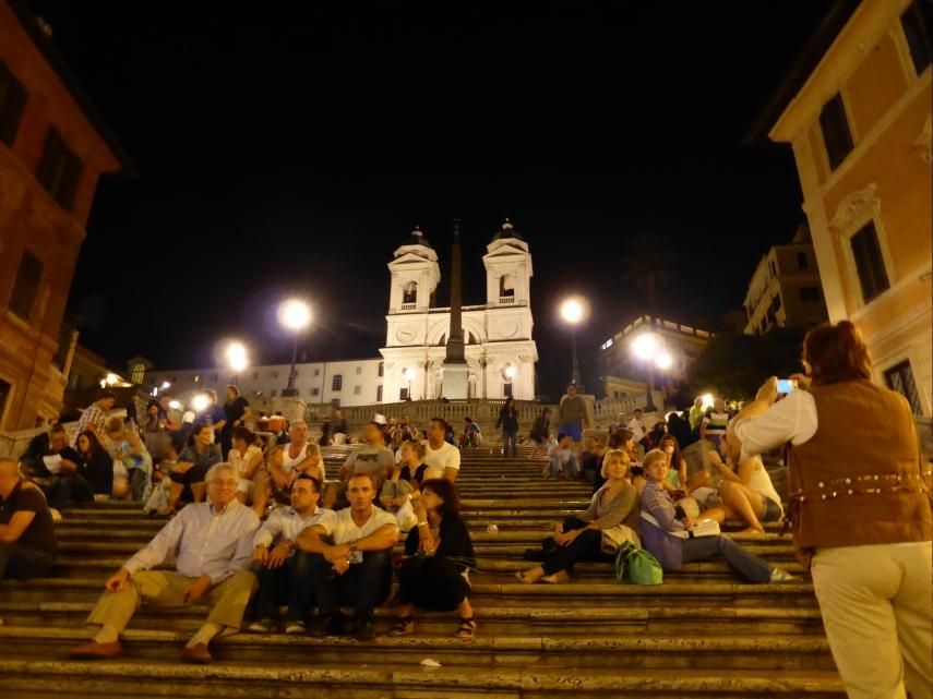 Spanish Steps by night