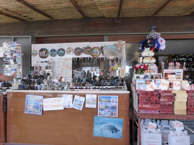 small shop up on Mount Vesuvius .