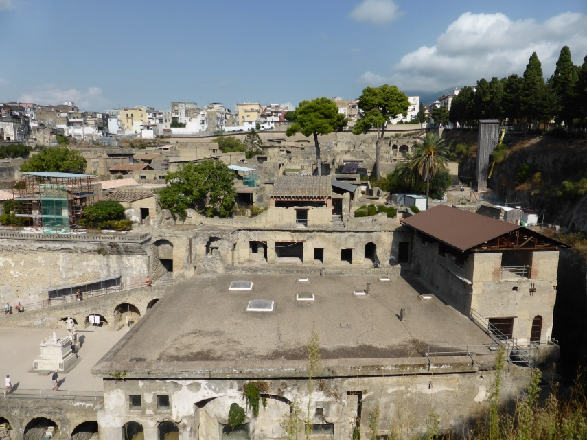The ancient town buried under modern Ercolano.