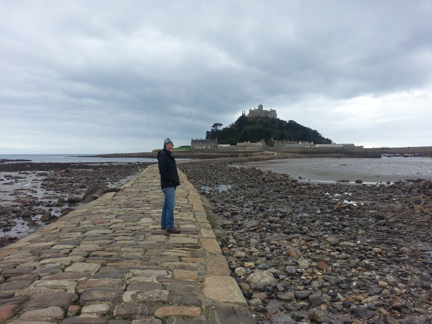 Hidden causeway becomes visible at low tide