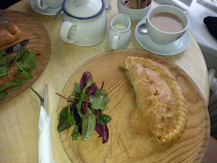 Cornish Pasty and tea