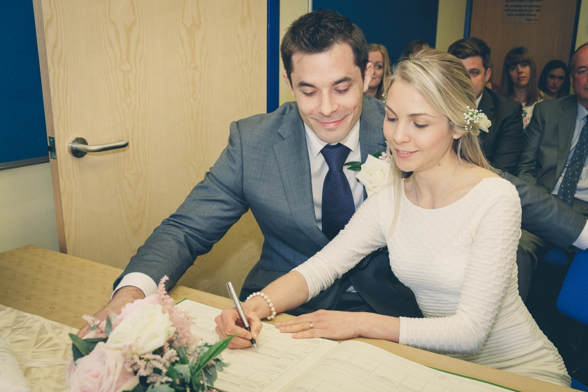 Signing for a life together