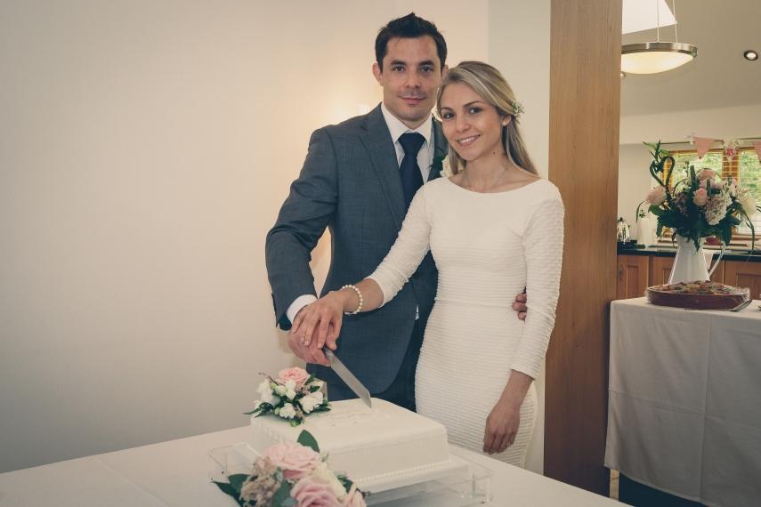 Traditional British wedding cake