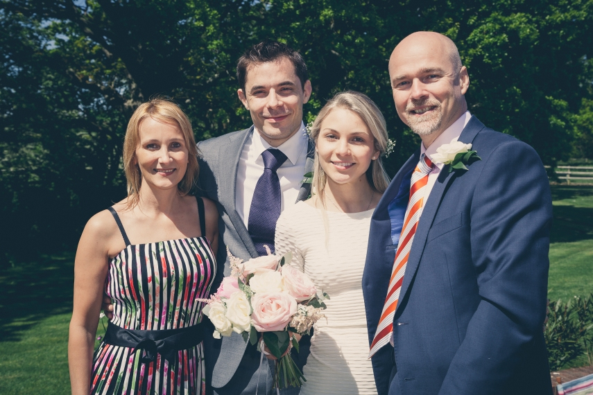 Brides British parents