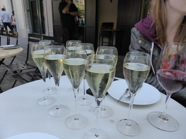 Free Champagne, to soften the blow of an expensive meal