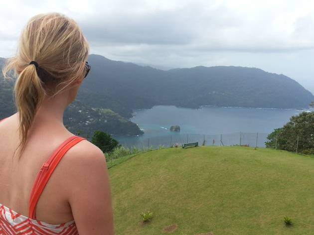 Flagstaff Hill with views over to Charlotteville below