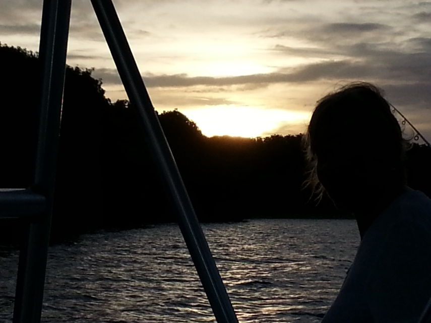 Sunset from our hired boat
