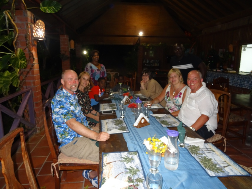 Dinner with a Tobagonian family at their Eco-Hotel