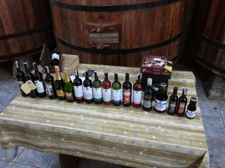 We were invited to sample some nice wine