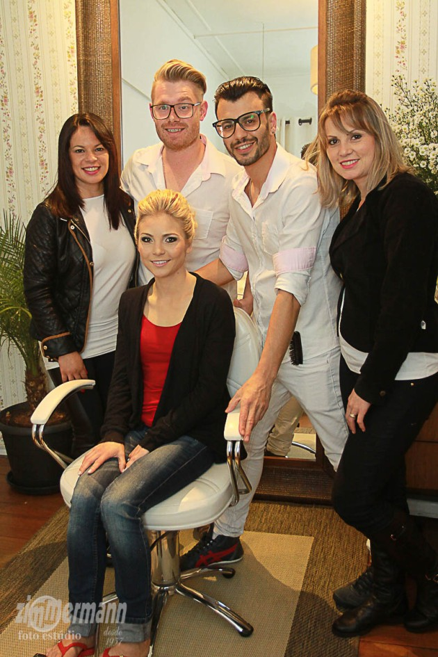 Bride's beauty team