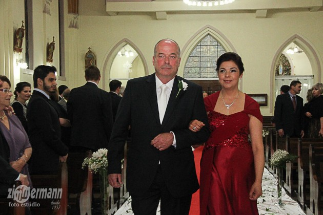 David, groom's father with Luciana, bride's mother
