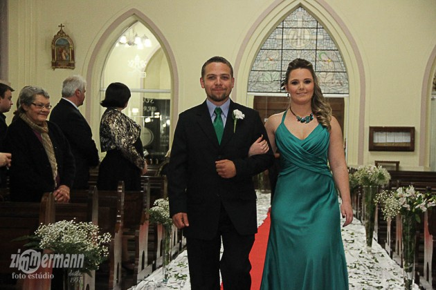 Bride's brother Bruno with his partner Carole