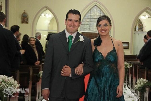 Caroline's cousin Bruna with her husband