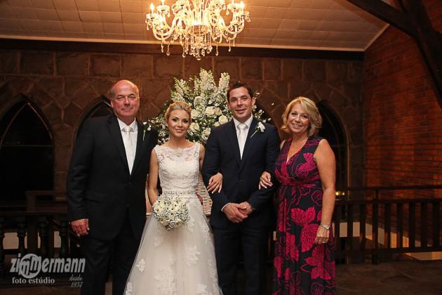 With Benjamin's parents David and Vanessa