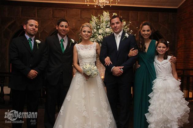 With Caroline's brothers Bruno and Mauricio, sister Aline and half sister Kalinka