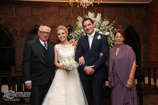Carol and Ben with my father and his partner Lelia