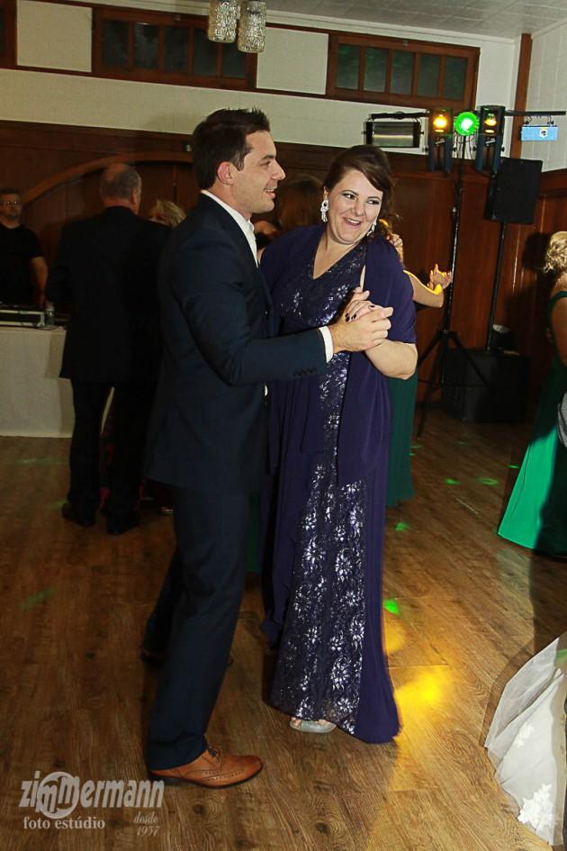Groom dancing with Bride's step mother Janea