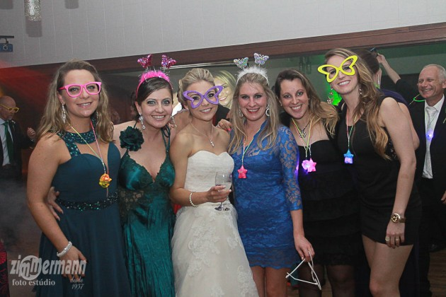 Bride with some of her old school friends