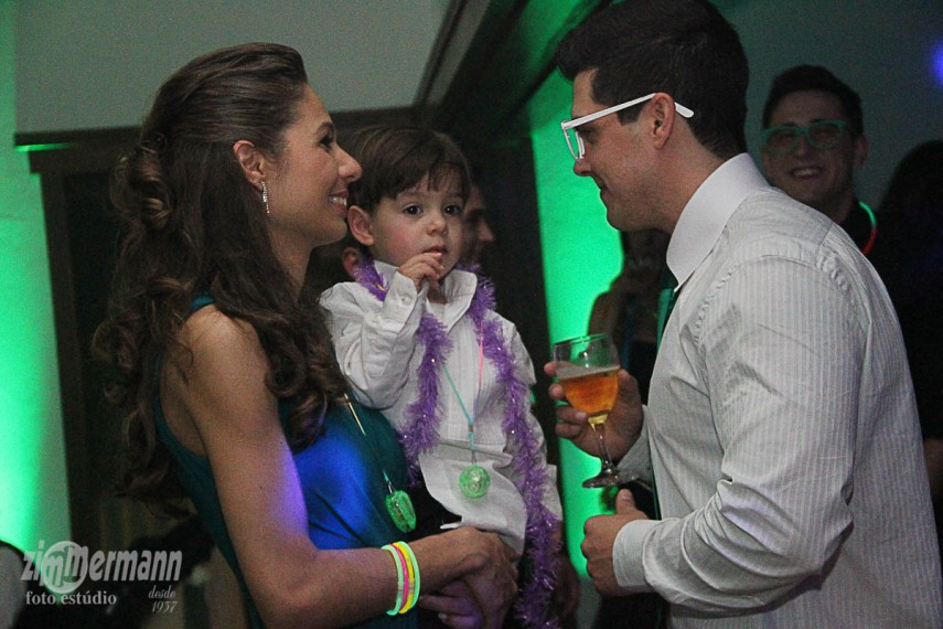 Little Joao Pedro loved to party with his parents Aline and Marcelo