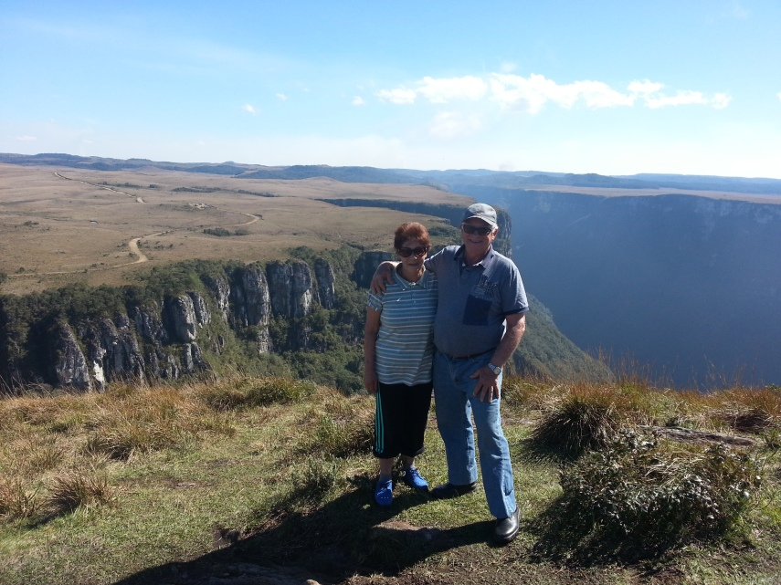 My father and Lelia took their time to climb up to the top