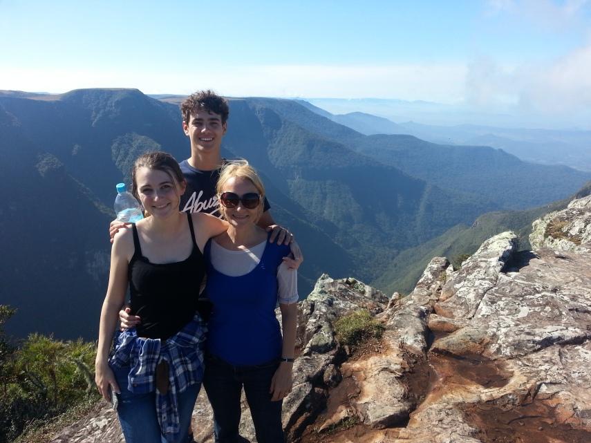 Me, Chloe and James at Fortaleza Canyon