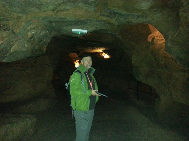 Brian at Gough's Cave