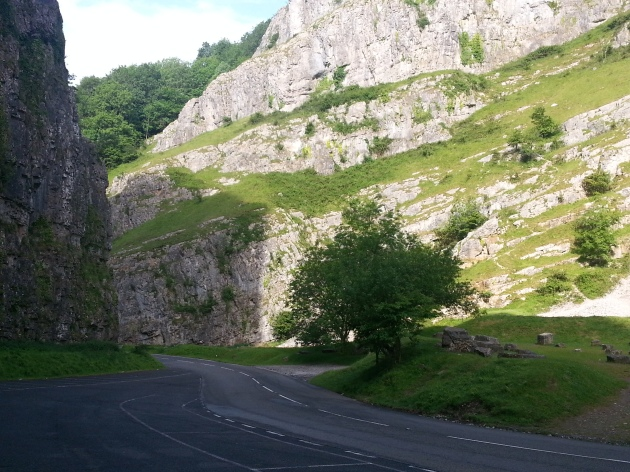 Road through Cheddar Gorge