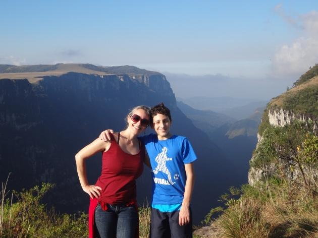 Angelita and Pabblo at Fortaleza Canyon