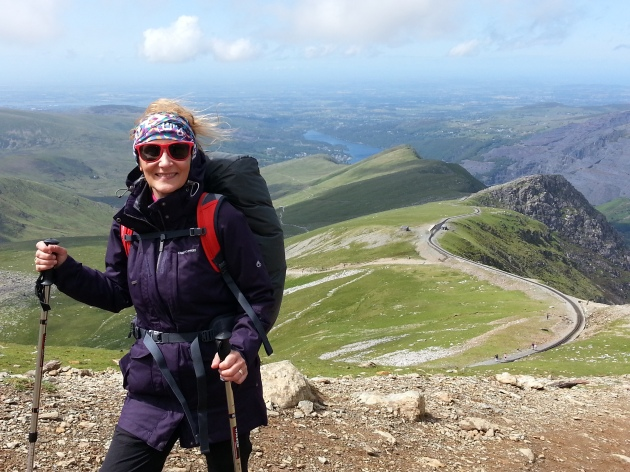 Me at Mount Snowdon - a mountaineer in the make