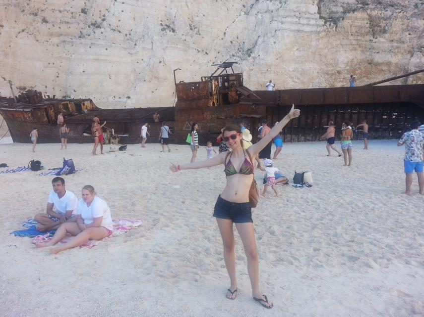 Chloe enjoyed exploring the Shipwreck