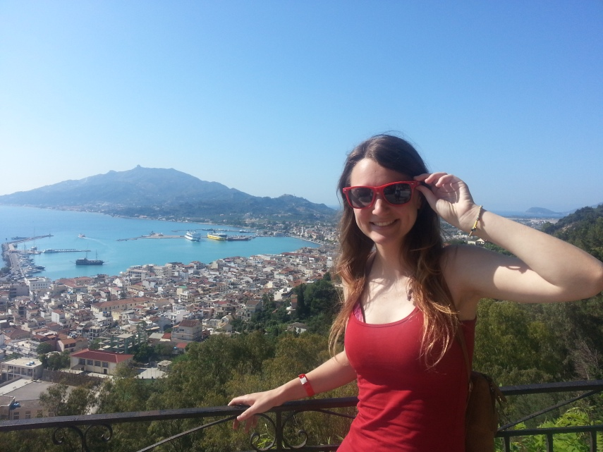 Chloe and views over Zakynthos Capital