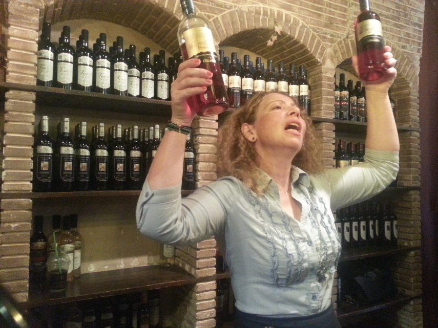 Constantina, our tour guide was very enthusiastic about the wine tasting session