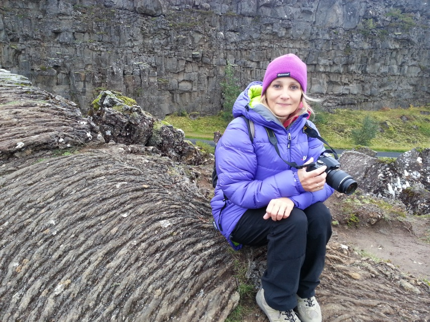 Sitting between Tectonic plates at Pingvellir