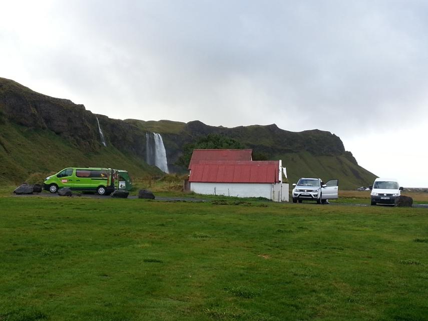 Hamragardar camp site by some beautiful waterfalls