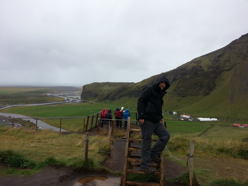 Platform view over Skogafoss