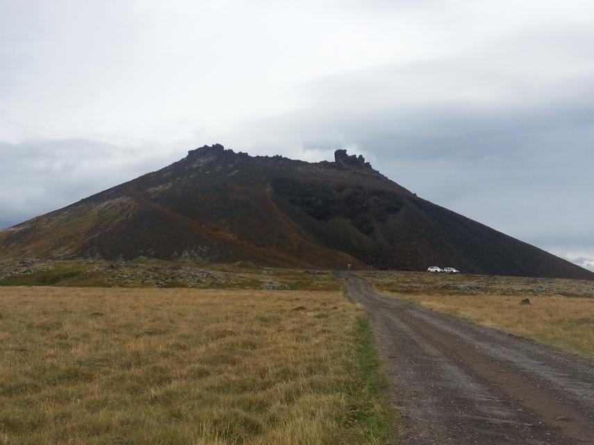 Perfect cone volcano