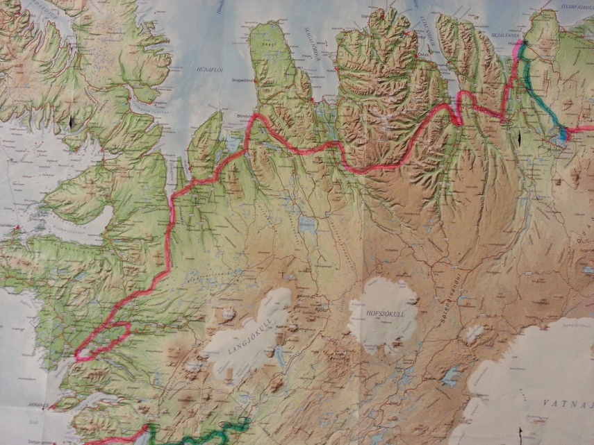 Route of our day 6 and our longest drive