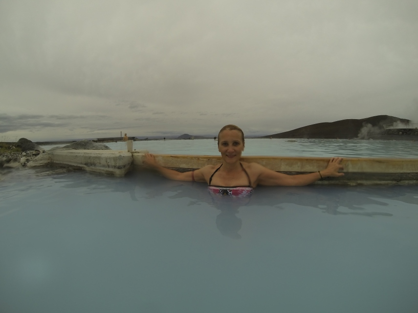 Relaxing soak at the Myvatn Nature Baths