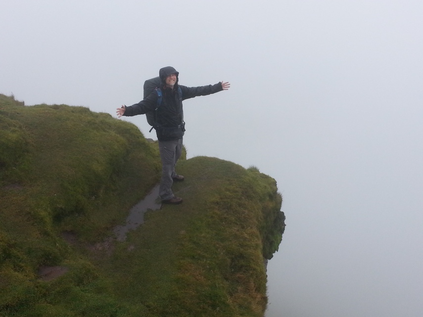 Brian at the edge of Pen-Y-Fan