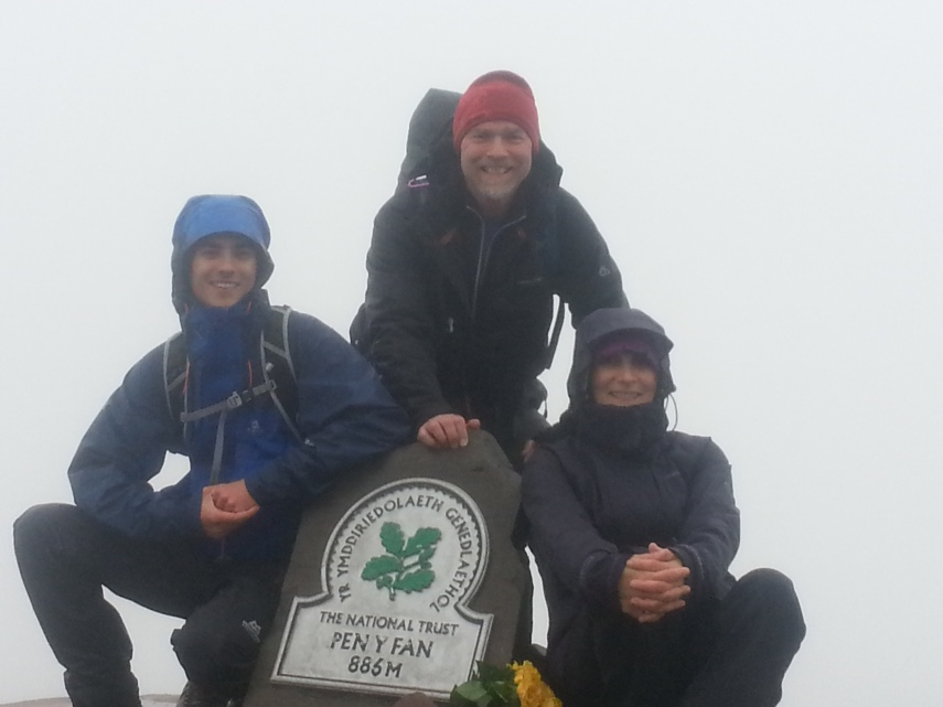 James, Brian and I at Pen-Y-Fan Summit