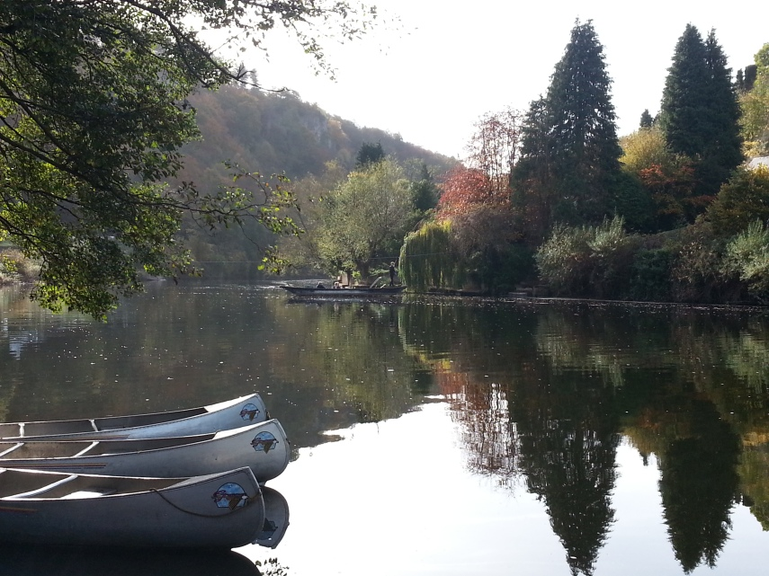 Peaceful river cruise
