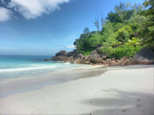 Anse Georgette in the Island Of Praslin, Seychelles