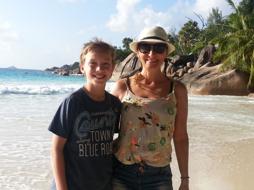 Simen and I at Anse Lazio