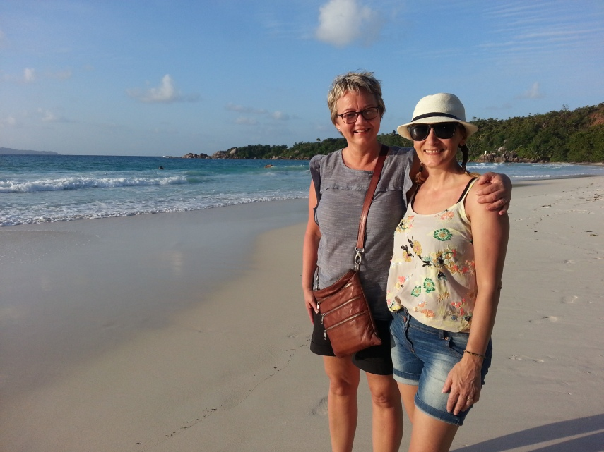 Sissel and I at Anse Lazio